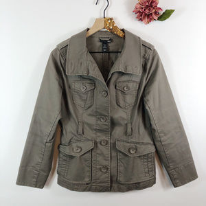 [H&M] Cargo Button Up Jacket